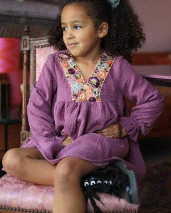 lilac dress with flower kids (2)