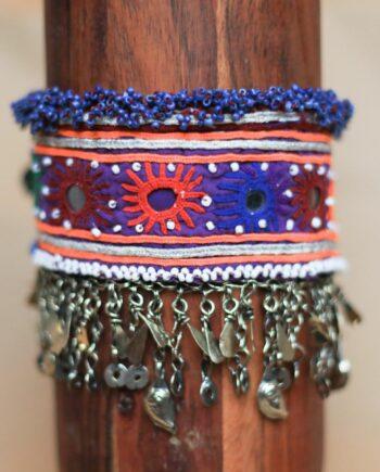 choker beads purple blue